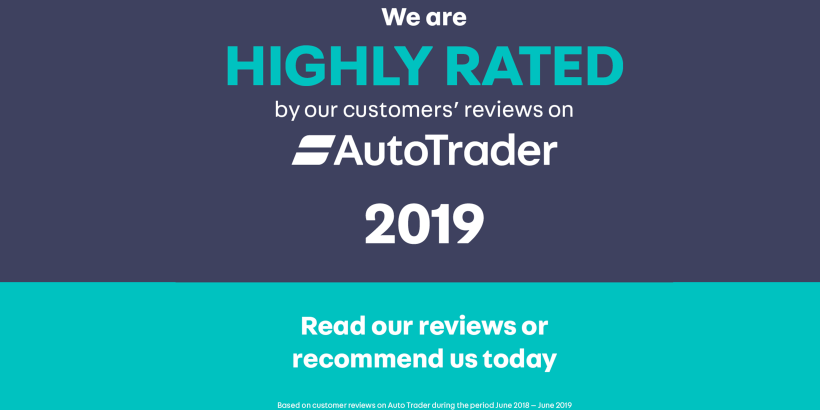Auto trader highly commended banner